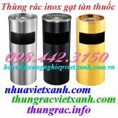 Thùng rác inox gạt tàn tròn giá rẻ call 0984423150 - Huyền