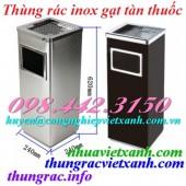 Thùng rác inox gạt tàn vuông giá rẻ call 0984423150 – Huyền