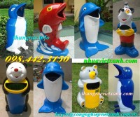 Thùng rác hình con thú nhựa composite giá rẻ call 0984423150 - Huyền