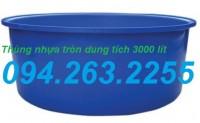 Cung cấp thùng nhựa 3000 lít, thùng chứa hóa chất, bồn nuôi cá, téc chứa nước