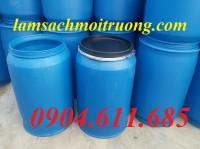 Bán thùng đựng hóa chất, thùng phuy nhựa 220 lít, thùng phuy nắp hở, thùng nhựa