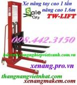 Xe nâng tay cao 1 tấn nâng cao 1.6 mét TW-lifter - Đài Loan giá siêu rẻ
