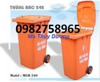 Thùng rác nhựa composite, thùng rác nắp bập bênh, thùng rác giá rẻ 90 lít