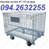 Cung cấp sọt lưới thép, lồng thép trữ hàng, xe đẩy hàng hóa siêu thị