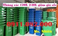 Thùng rác 240 lít giá rẻ tại cà mau- thùng nhựa 240 lít- lh 0911082000