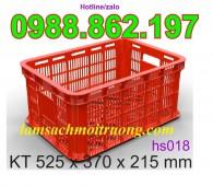 Sóng Nhựa Rỗng HS018, thùng nhựa rỗng HS018, sóng nhựa hở hs018
