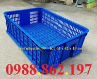 Sọt nhựa hs009, thùng nhựa rỗng hs009, sọt nhựa giá rẻ hs009, Sóng nhựa hở HS009
