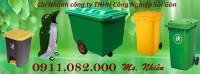 Thùng rác 240 lít màu xanh giá rẻ tại cần thơ- thùng rác giá sỉ- lh 0911.082.000