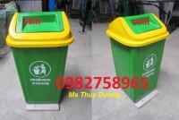 Thùng rác nhựa 90 lít nắp lật, thùng rác công cộng, thùng rác đô thị