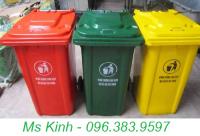 thùng rác công cộng 4 bánh xe, xe đẩy rác 660 lít thanh lý, thùng rác giá rẻ