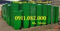 Mua bán giá rẻ thùng rác 120L 240L 660L tại vĩnh long- thùng rác y tế màu vàng-l