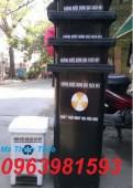 Thùng rác y tế, thùng rác 120l, thùng đựng chất lây nhiễm mới