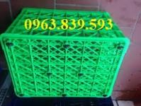 Bán rổ nhựa 8 bánh xe đựng hàng may mặc - rổ nhựa đan công nghiệp giá rẻ