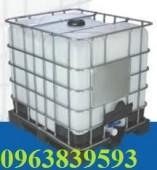 Cc tank nhựa IBC 1000L - Tank nhựa cũ đựng hóa chất