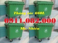 Cung cấp thùng 240 lít giá rẻ, thùng rác 240 lít màu xanh, cam, vàng, thùng rác