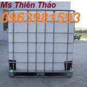 Cung cấp thùng đựng hóa chất, tank IBC, tank 1000l màu trắng đựng hóa chất