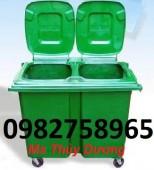 Thùng rác 90 lít, thùng rác 120l, thùng rác nhựa HDPE giá rẻ
