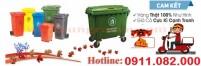 Thùng rác 120 lít 240 lít nắp hở giá rẻ tại bạc liêu- thùng rác nắp kín xanh, ca