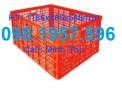 Sóng nhựa rỗng 26 bánh xe, sọt nhựa dùng trong may mặc giá rẻ