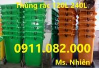 Giảm giá thùng rác 240 lít giá rẻ tại bình dương- thùng rác y tế