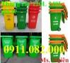 Cung cấp thùng rác 660 lít giá rẻ- 4 bánh xe nắp kín