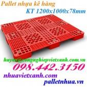Pallet nhựa kê hàng – Pallet nhựa 1200x1000x78mm PL03LS
