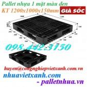 Pallet nhựa 1200x1000x150mm mới 100‰ màu đen giá rẻ call 0984423150 Huyền