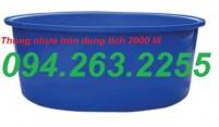 Thùng nhựa tròn 3000 lít, thùng chứa, bồn chứa hóa chất, thùng nhựa giá rẻ