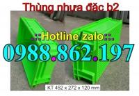 Thùng nhựa đặc B2, thùng nhựa, sóng nhựa bít b2, hộp nhựa B2, khay nhựa b2, khay