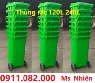 Thùng rác 120 lít giá rẻ tại thành phố vị thanh- thùng rác công cộng- 0911082000