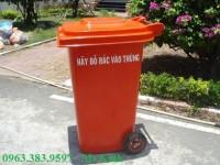 thùng rác 120l giá chỉ 400k, nơi bán thùng rác bình dương, thùng rác