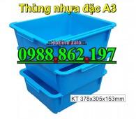 khay nhựa A3, thùng chứa A3, thùng nhựa A3 giá rẻ, thùng nhựa đặc A3, thùng nhựa