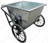 Xe gom rác bằng tôn 500 lít, xe dọn vệ sinh, xe đẩy rác, xe thu gom rác giá rẻ