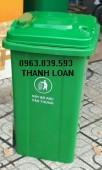 Thùng rác nhựa 100L- Thùng đựng rác khu dân cư, nhà ở - 0963.839.593