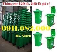 Bán thùng rác siêu rẻ- thùng rác nhựa, thùng rác 120 lít 240 lít giá rẻ