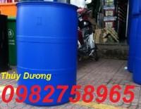 Bán thùng phuy nhựa 100l, thùng phuy trồng rau, phuy đựng hóa chất giá rẻ