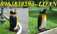 Thùng rác Chim cánh cụt - thùng rác hình thú để công viên giá rẻ