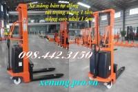 Xe nâng bán tự động 1 tấn cao 1.6 mét giá rẻ call 0984423150 – Huyền
