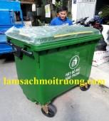 Xe gom rác 660 lít, thùng rác 660l, xe gom rác nhựa Composite giá rẻ