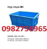 Sóng nhựa bít b5, thùng nhựa đặc, thùng nhựa, thùng nhựa b5,
