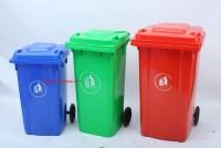 Thùng rác 120 lít, thùng rác 2 bánh xe, thùng rác công cộng, thùng rác đô thị
