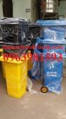 Thùng rác y tế, thùng rác y tế 120 lít, thùng rác nhựa HDPE giá rẻ
