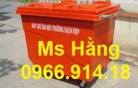 Xe thu gom rác 450 lít nhựa composite,xe đẩy rác bệnh viện 660 lít