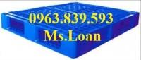 pallet nhựa công nghiệp - bán pallet để kho giá rẻ - 0963.839.593 Loan