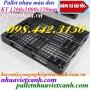Pallet nhựa đen 1200x1000x120mm thanh lý giá rẻ call 0984423150 Huyền