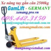 Xe nâng tay gắn cân 2500kg EV25 GAMLIFT - GERMANY giá siêu cạnh tranh