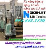 Xe nâng bán tự động 1500kg nâng cao 3300mm NE1533 NICHI-LIFT