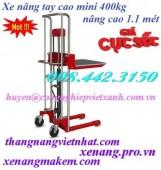 Xe nâng tay cao mini 400kg nâng cao 1100mm MJ1100 Gamlift giá rẻ call 0984423150