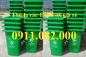 Giá rẻ thùng rác 240 lít tại sóc trăng- Thùng rác 120 lít màu vàng, xanh- lh 091