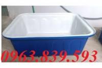 Bán thùng nhựa đặc chữ nhật, thùng nhựa đựng nước 300L siêu bền - 0963.839.593
